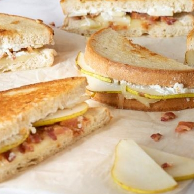 Bartlett Pear & Bacon Grilled Cheese Sandwich