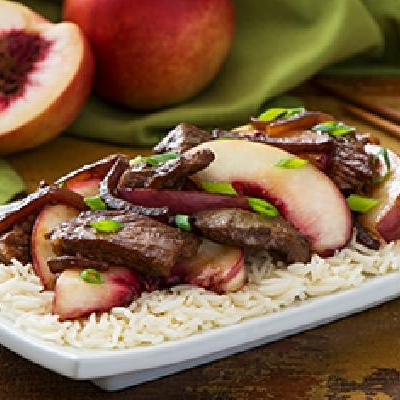 Beef and Nectarine Stir Fry