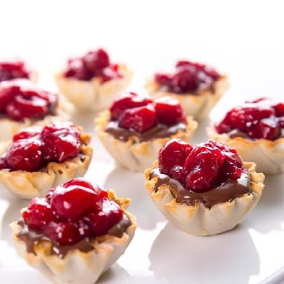Tart Cherry & Chocolate Hazelnut Tarts