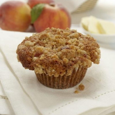 Ontario Peach Streusel Muffins
