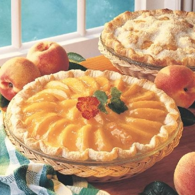 Glazed Ontario Peach Pie