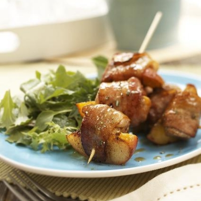 Ontario Peach and Pork Brochettes