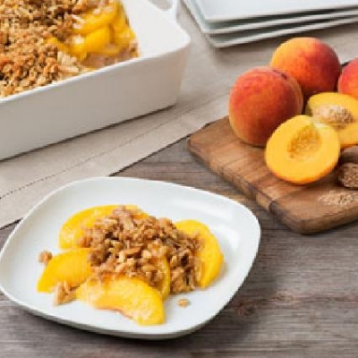 MAPLE PEACH CRUMBLE